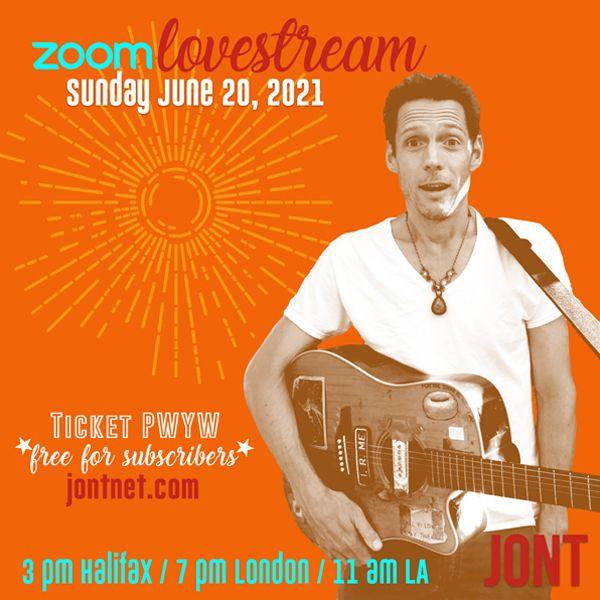 Jont - Zoom LOVEstream Sunday June 20, 2021