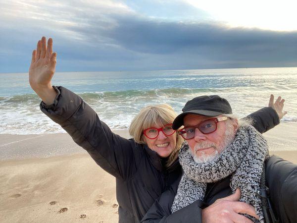 Suzy Starlite and Simon Campbell in Sesimbra,Portugal