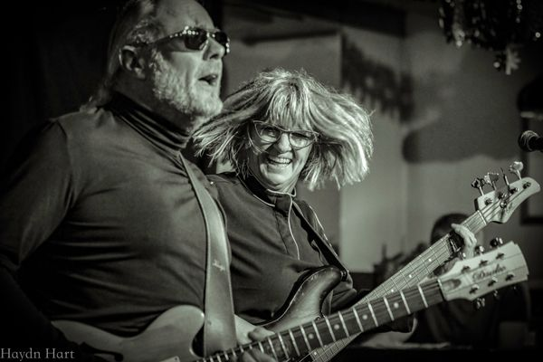 Simon Campbell & Suzy Starlite of the Starlite Campbell Band at the Tuesday Night Music Club